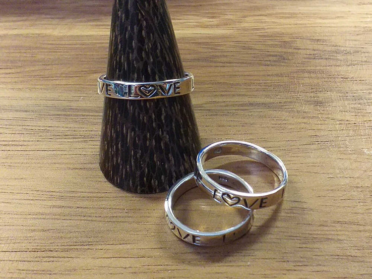 Sterling Stamped Love Ring-Himalayan Trading Post Ltd