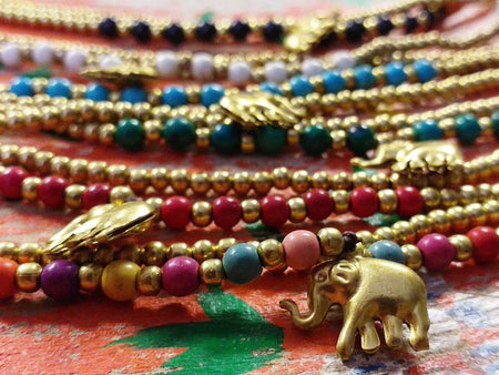 Elephant and Bead Bracelet-Himalayan Trading Post Ltd