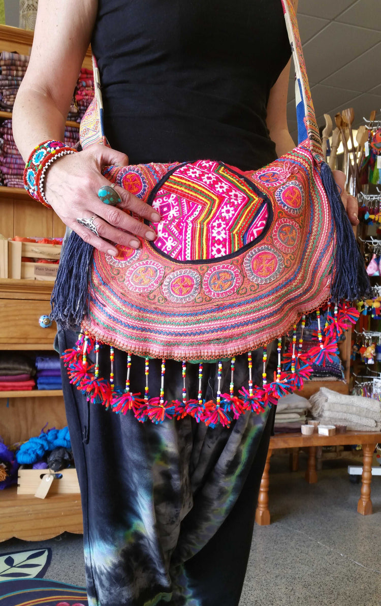Hill Tribe Circle Bag-Himalayan Trading Post Ltd