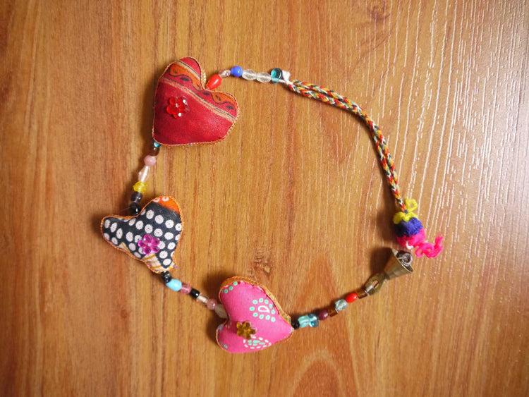 Fabric Heart String-Himalayan Trading Post Ltd