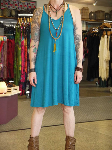 A-Line V-Neck Dress-Himalayan Trading Post Ltd