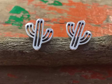 Sterling Cactus Studs