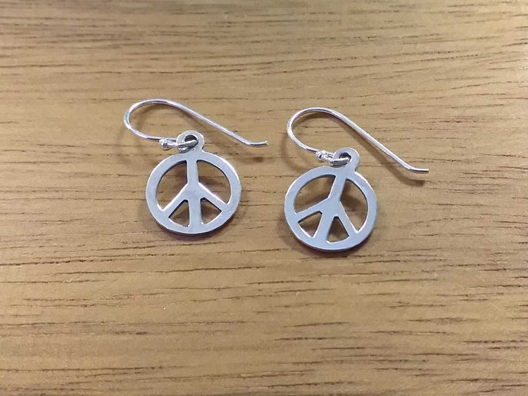 Sterling Peace Earrings