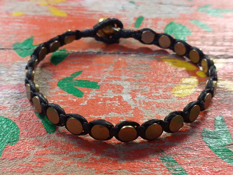 Brass Disc Bead Bracelet-Himalayan Trading Post Ltd