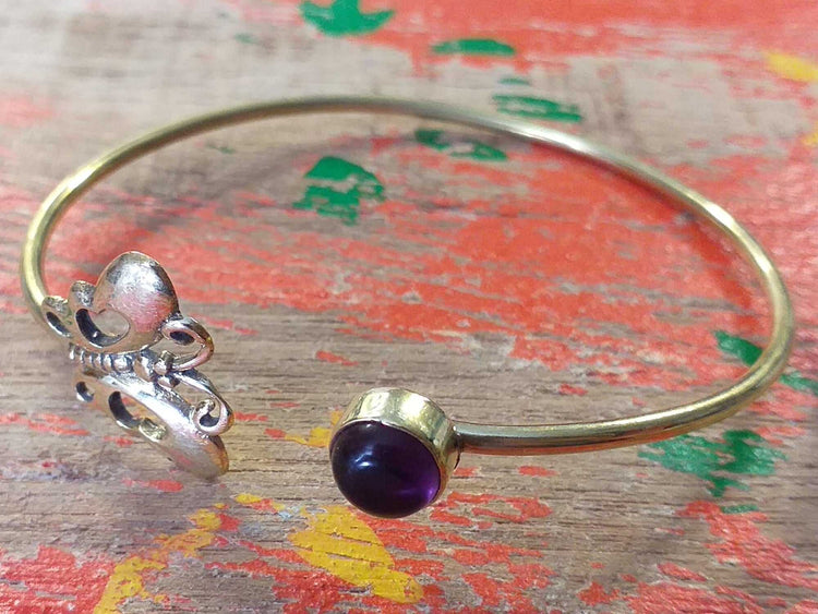Butterfly Stone Bangle