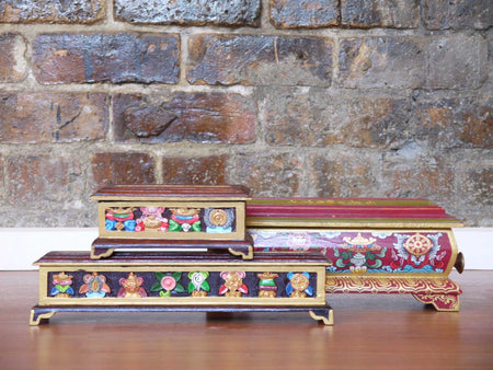 Tibetan Hand Painted Incense Box
