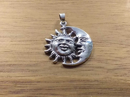 Sterling Sun Moon Pendant