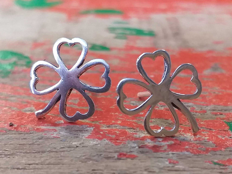Sterling Clover Four Studs