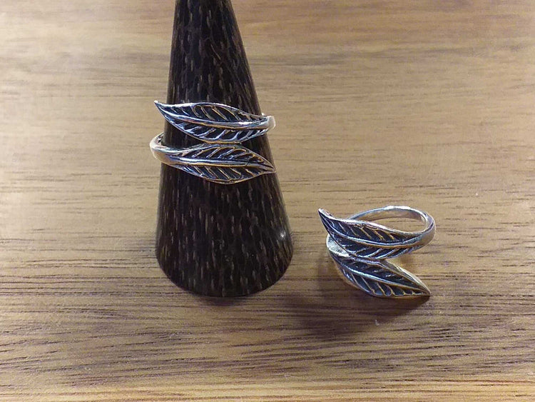 Sterling 2 Leaf Ring-Himalayan Trading Post Ltd