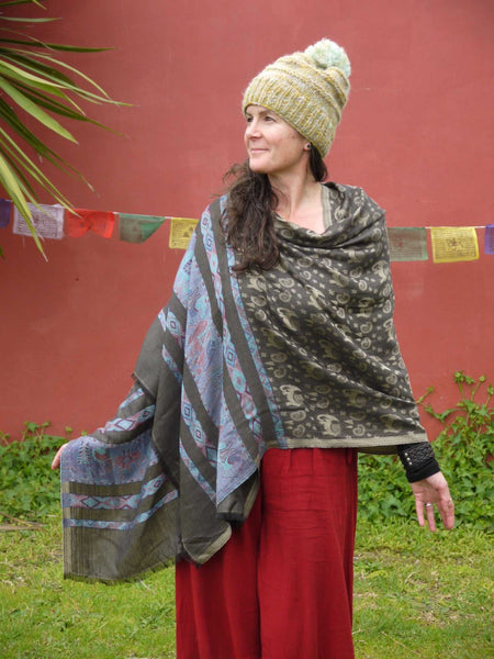 Elephant and Horse Shawl-Himalayan Trading Post Ltd
