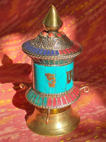 Table Prayer Wheel Filigree 3-Himalayan Trading Post Ltd