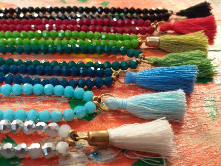Bead and Tassel Anklet-Himalayan Trading Post Ltd