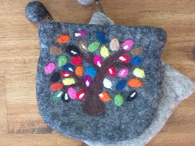 Felt Tree Purse-Himalayan Trading Post Ltd