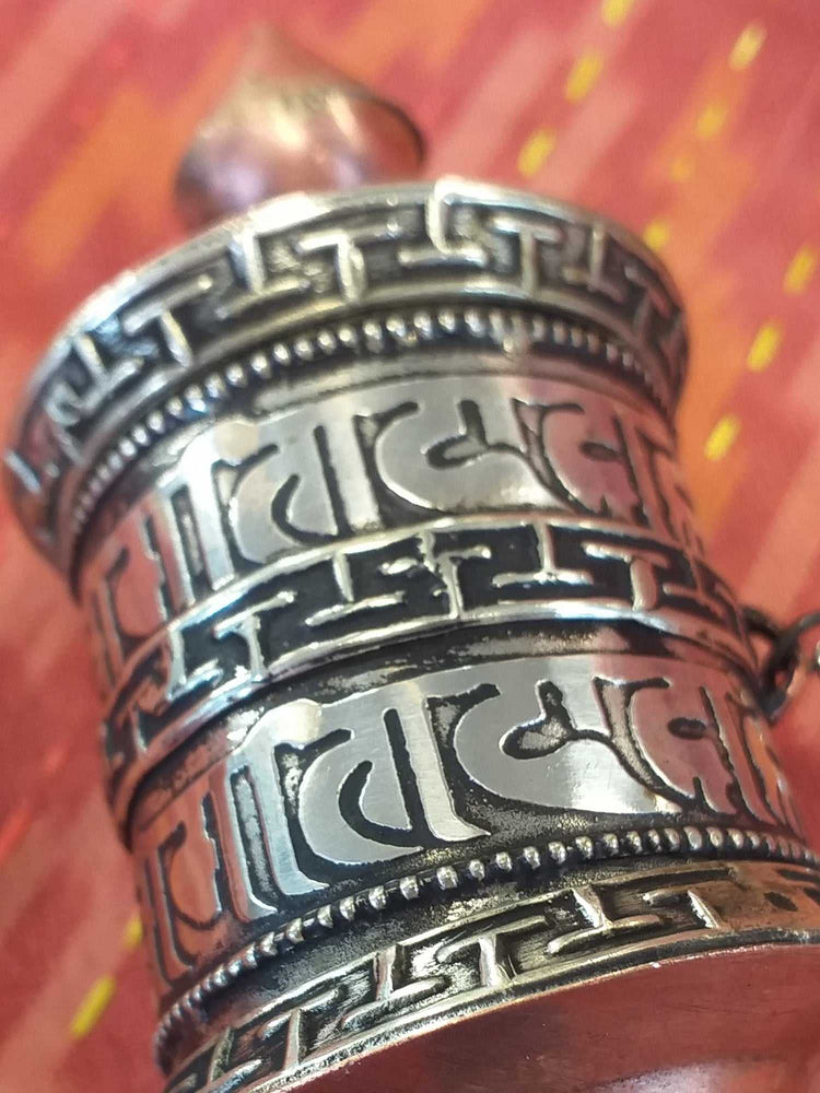 Hand Held Prayer Wheel Mantra-Himalayan Trading Post Ltd