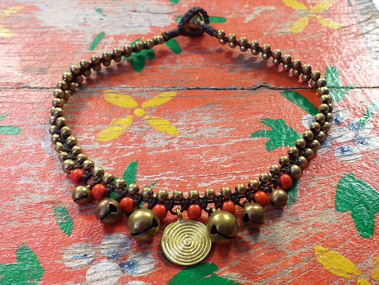 Spiral Disc Anklet-Himalayan Trading Post Ltd