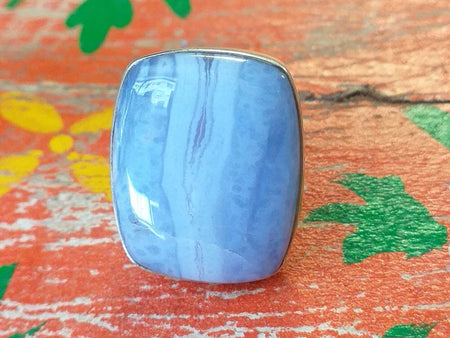 Sterling Blue Lace Agate Ring
