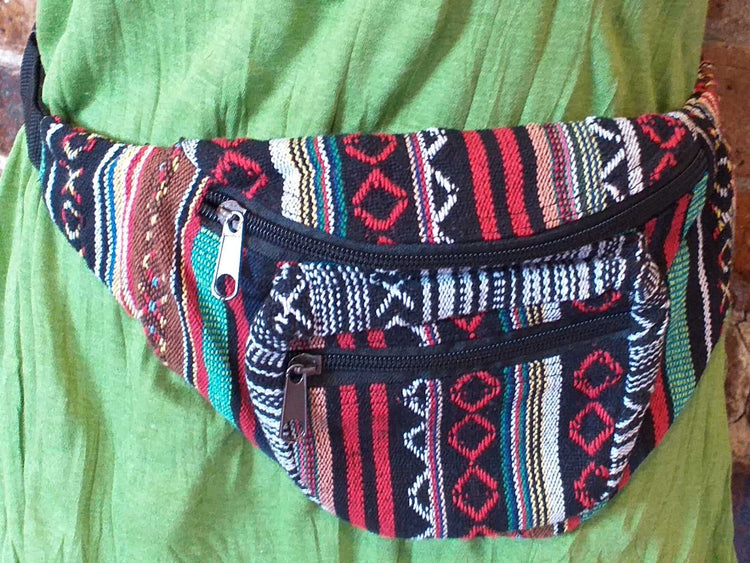 Stripe Belt Bag-Himalayan Trading Post Ltd