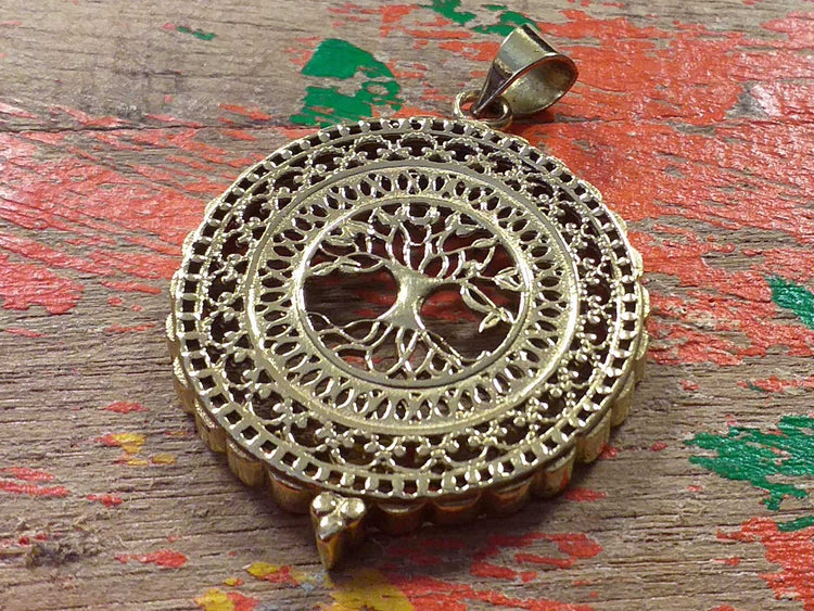Tree of Life Circle Pendant-Himalayan Trading Post Ltd