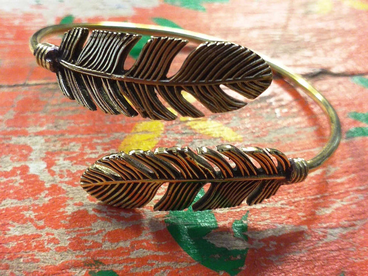Two Feather Bangle