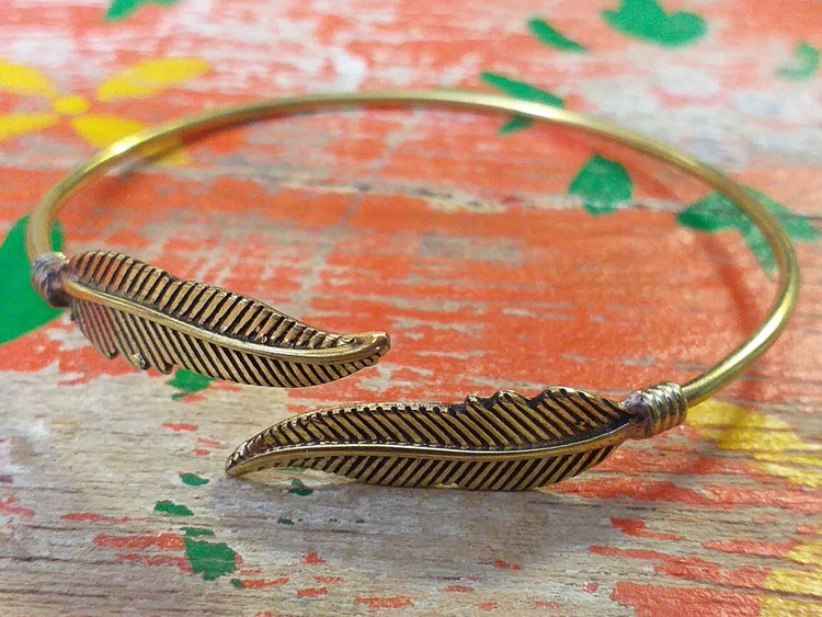 Two Fine Feather Bangle