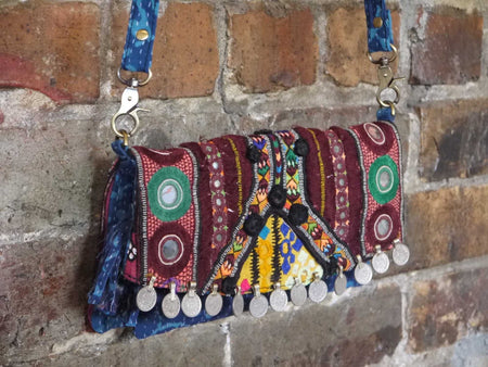 Vintage Coin Clutch Bag-Himalayan Trading Post Ltd