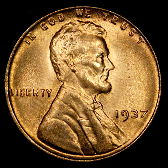 1937-P Lincoln Wheat cent - Ch-GEM BU