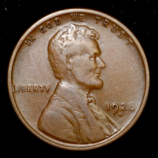 1928-D Lincoln Wheat cent - F+