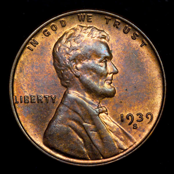 1939-S RPM-002 Lincoln cent RPM - Ch MS