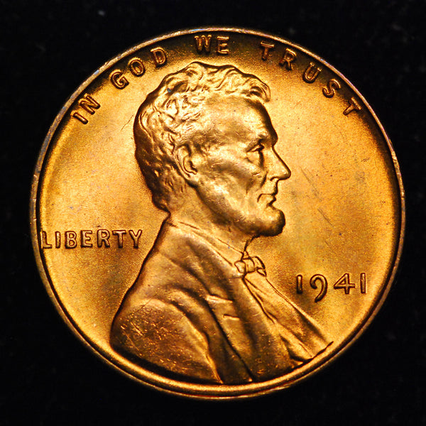 1941-P Lincoln Wheat cent - GEM BU
