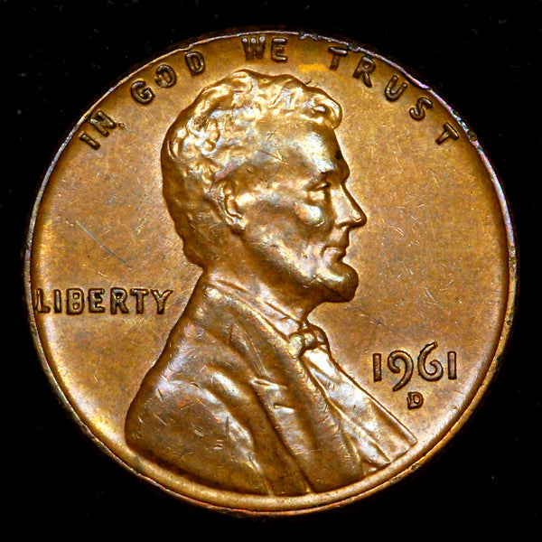 1961-D RPM-001 Lincoln cent RPM - AU