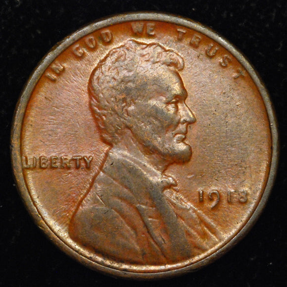 1918-P Lincoln Wheat cent - VF