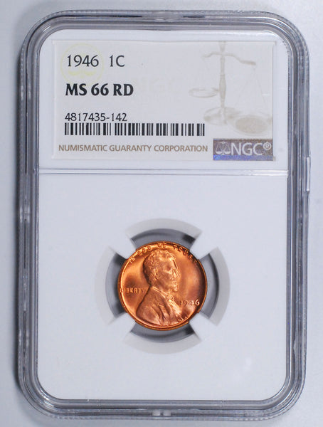 1946-P Lincoln Wheat cent - NGC MS66RD