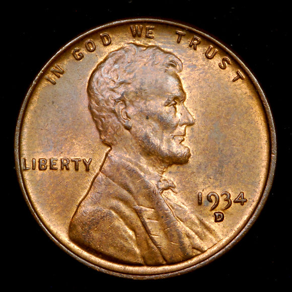1934-D Lincoln Wheat cent - Ch-GEM MS