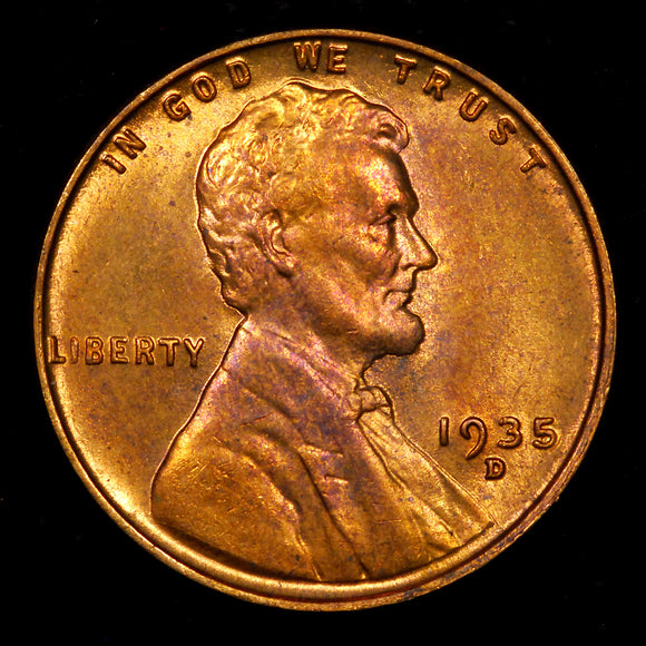 1935-D Lincoln Wheat cent - Ch MS