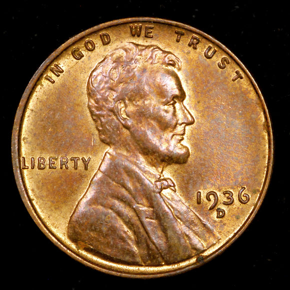 1936-D Lincoln Wheat cent - CH MS