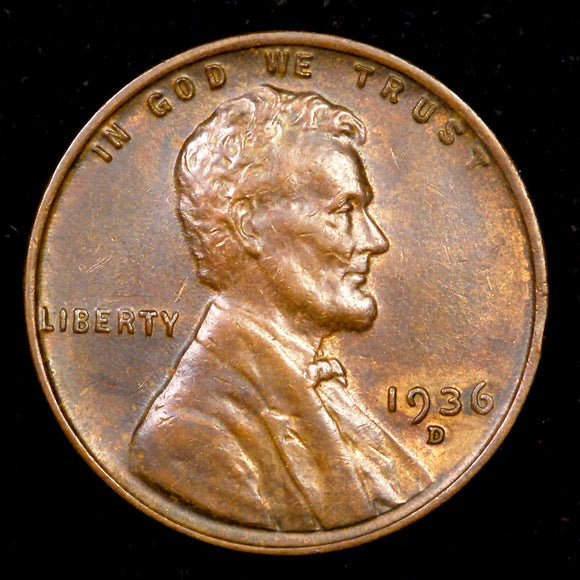 1936-D Lincoln Wheat cent - Ch-GEM Unc