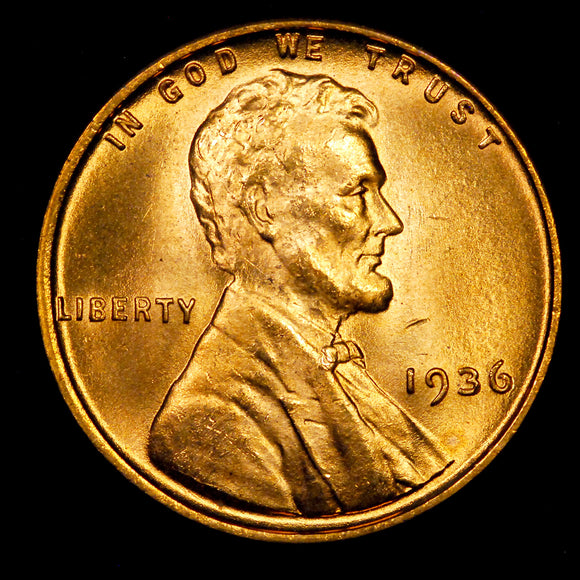 1936-P Lincoln Wheat cent - GEM BU