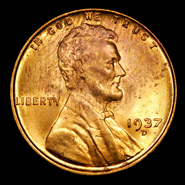1937-D Lincoln Wheat cent - Ch MS