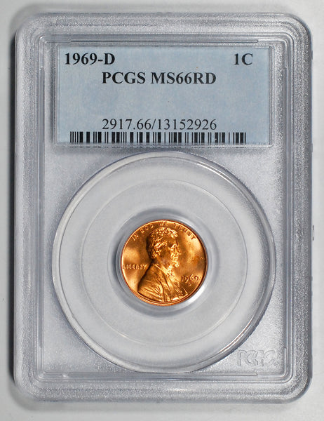1969-D Lincoln Cent - PCGS MS66RD