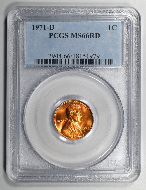 1971-D Lincoln Cent - PCGS MS66RD