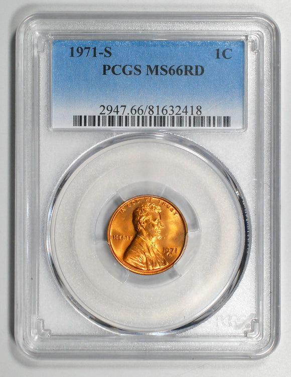 1971-S Lincoln Cent - PCGS MS66RD