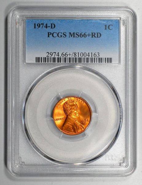 1974-D Lincoln Cent - PCGS MS66+RD