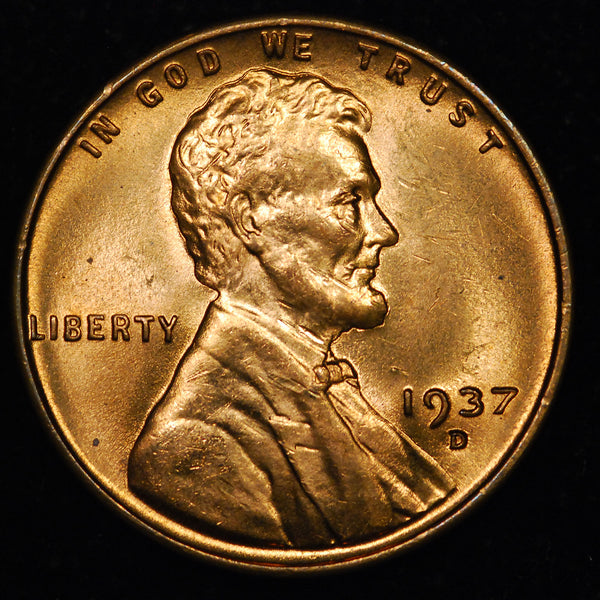1937-D Lincoln Wheat cent - GEM BU
