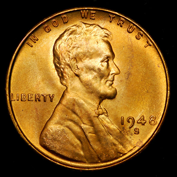 1948-S Lincoln Wheat cent - GEM BU