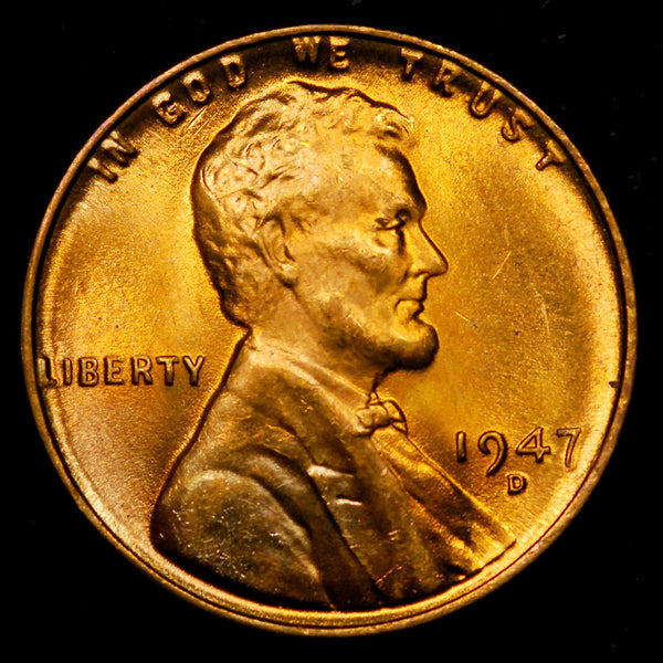 1947-D Lincoln Wheat cent - GEM BU