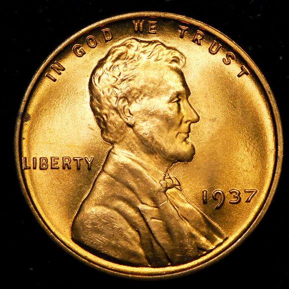1937-P Lincoln Wheat cent - GEM BU+
