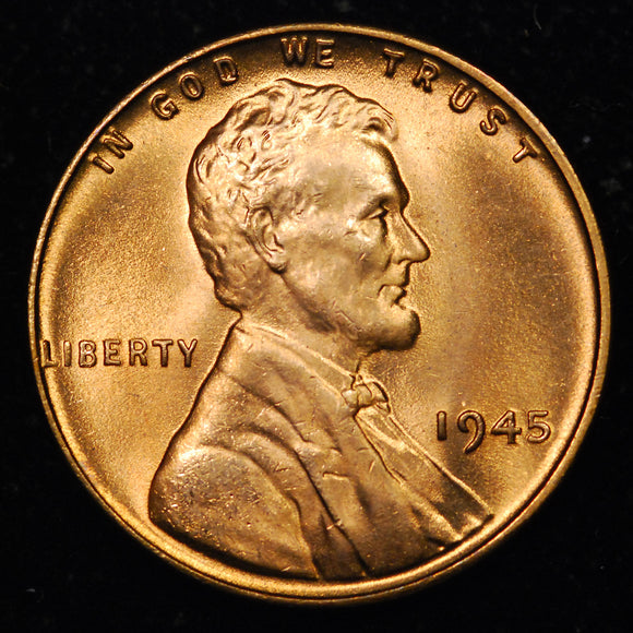 1945-P Lincoln Wheat cent - GEM BU+