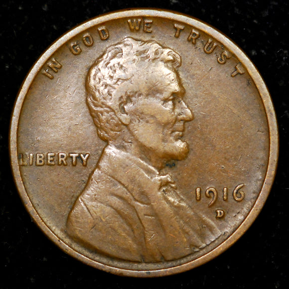 1916-D Lincoln Wheat cent - VF+