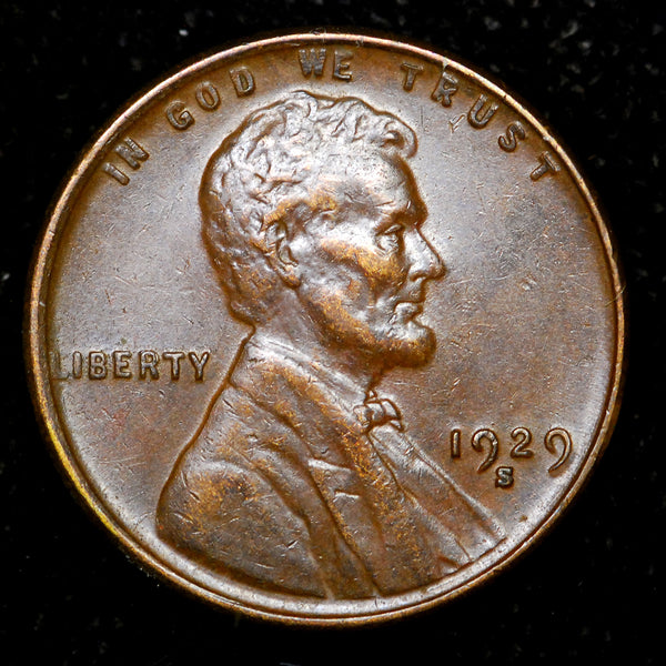 1929-S Lincoln Wheat cent - EF+