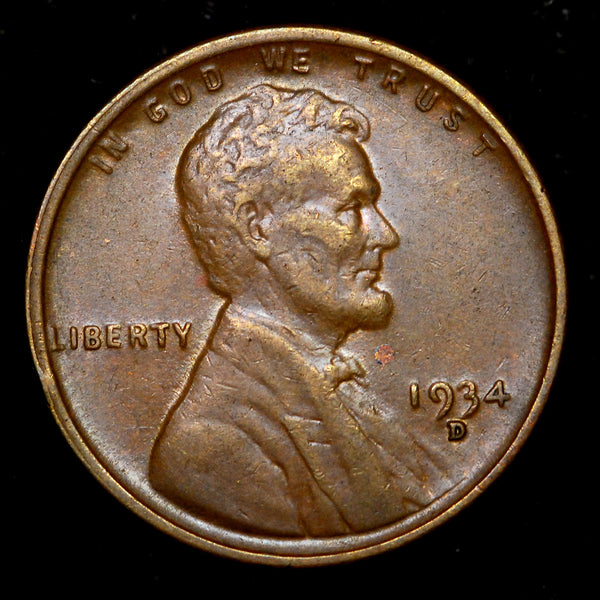 1934-D Lincoln Wheat cent - AU++